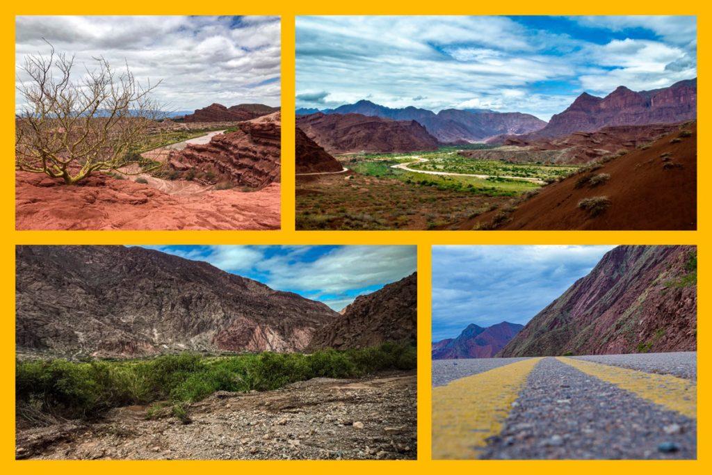 i diversi paesaggi che è possibile apprezzare nell'Argentina del Nord tra Salta, Jujuy e dintorni